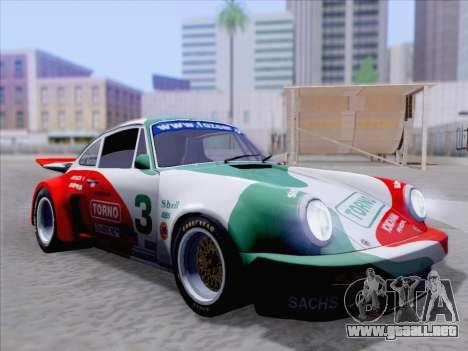 Porsche 911 RSR 3.3 skinpack 1 para vista inferior GTA San Andreas