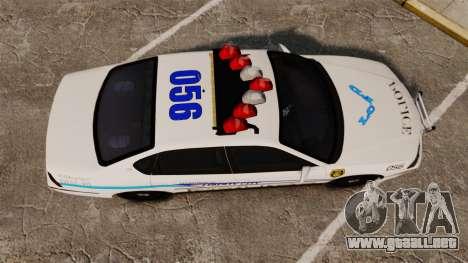 Chevrolet Impala 2003 LCPD para GTA 4 visión correcta