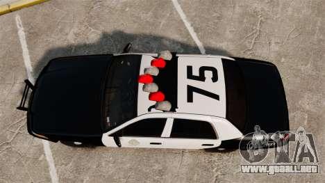 Ford Crown Victoria 1999 LAPD & GTA V LSPD para GTA 4 visión correcta