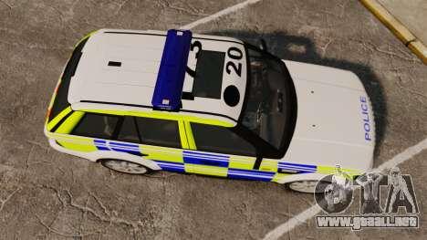 Range Rover Sport Metropolitan Police [ELS] para GTA 4 visión correcta