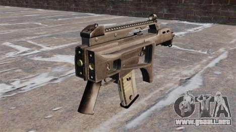 Rifle de asalto HK G36C para GTA 4 segundos de pantalla