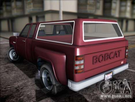 Bobcat insípida XL de GTA V para GTA San Andreas left