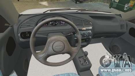 Daewoo Lanos S PL 1997 para GTA 4 vista hacia atrás