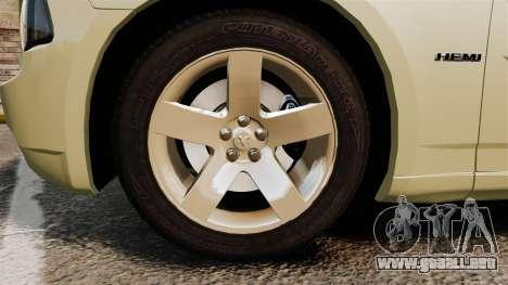Dodge Charger RT Hemi 2007 para GTA 4 vista hacia atrás