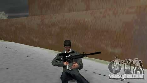 M4 con el arma de francotirador para GTA Vice City tercera pantalla