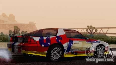 Chevrolet Camaro IROC-Z 1989 FIXED para el motor de GTA San Andreas
