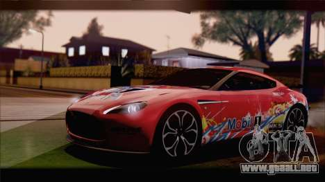 Aston Martin V12 Zagato 2012 [HQLM] para GTA San Andreas left