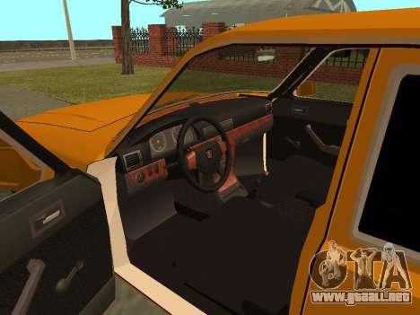 Volga GAZ 3102 para GTA San Andreas vista hacia atrás