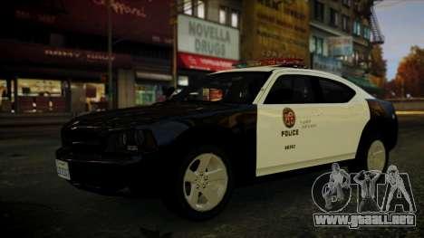 Dodge Charger LAPD 2008 para GTA 4 visión correcta