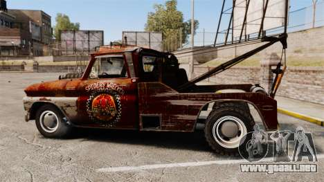 Chevrolet Tow truck rusty Rat rod para GTA 4 left