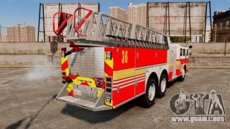 MTL Firetruck MDH1000 LCFR [ELS] para GTA 4 left