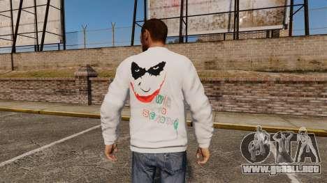 Suéter-The Joker- para GTA 4 segundos de pantalla