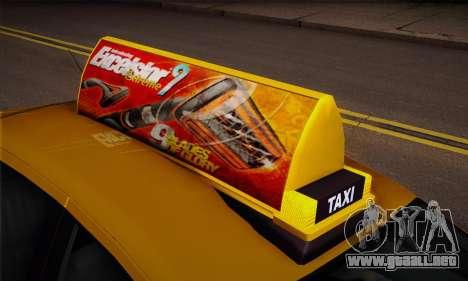 Declasse Premier Taxi para la visión correcta GTA San Andreas