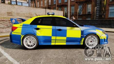 Subaru Impreza WRX STI 2011 Police [ELS] para GTA 4 left