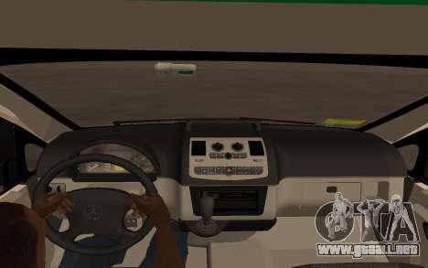 Mercedes-Benz Vito Ambulancia ACHS 2012 para GTA San Andreas vista posterior izquierda