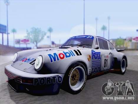 Porsche 911 RSR 3.3 skinpack 1 para GTA San Andreas left