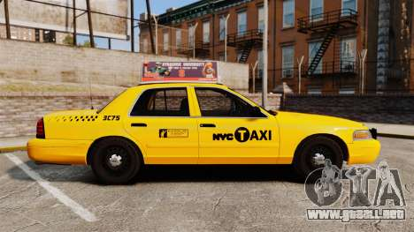 Ford Crown Victoria 1999 NYC Taxi v1.1 para GTA 4 left