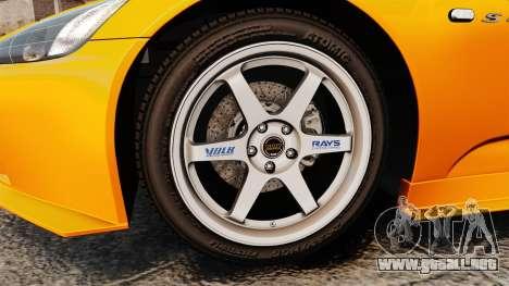 Honda S2000 (AP1) para GTA 4 vista hacia atrás