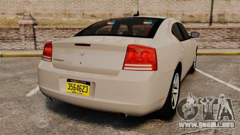 Dodge Charger Unmarked Police [ELS] para GTA 4 Vista posterior izquierda