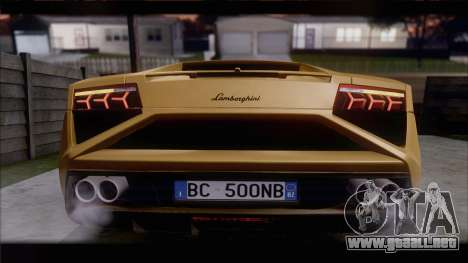 Lamborghini Gallardo LP560-4 Coupe 2013 V1.0 para GTA San Andreas vista posterior izquierda