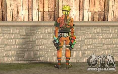 Naruto Rajdžinu para GTA San Andreas segunda pantalla