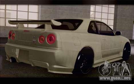 Nissan Skyline R34 Z-Tune para GTA San Andreas left