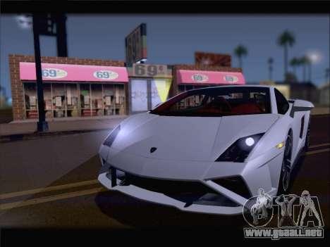 Lamborghini Gallardo 2013 para GTA San Andreas vista posterior izquierda