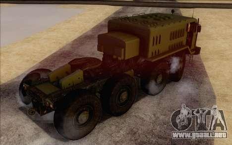 535 MAZ militar para GTA San Andreas left