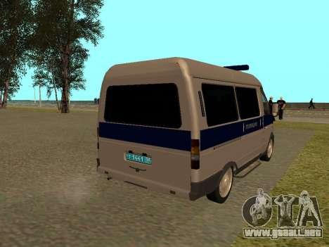 Policía Sable del GAS para la visión correcta GTA San Andreas