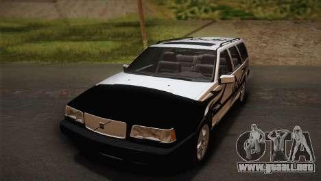 Volvo 850 Estate Turbo 1994 para GTA San Andreas vista hacia atrás