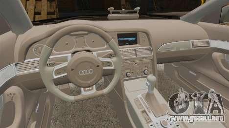 Audi RS6 Avant Metropolitan Police [ELS] para GTA 4 vista interior
