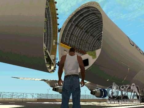 Boeing-747 Dream Lifter para visión interna GTA San Andreas