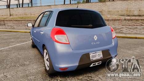 Renault Clio III Phase 2 para GTA 4 Vista posterior izquierda