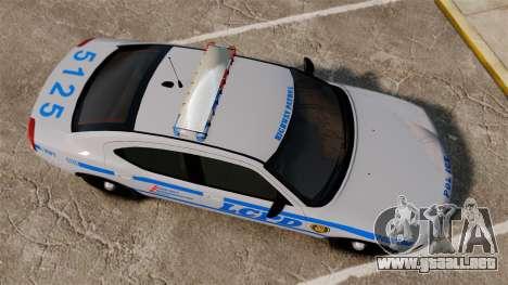 Dodge Charger LCPD [ELS] para GTA 4 visión correcta