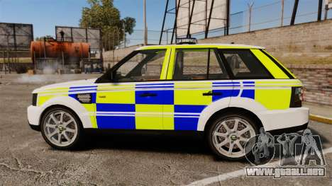 Range Rover Sport Metropolitan Police [ELS] para GTA 4 left