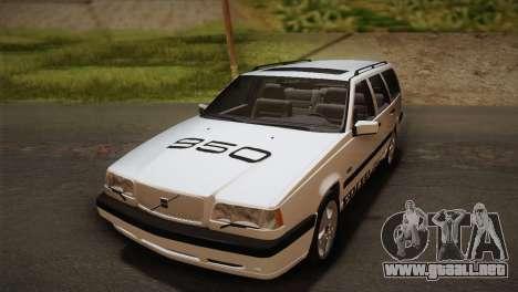 Volvo 850 Estate Turbo 1994 para visión interna GTA San Andreas
