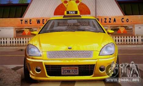Declasse Premier Taxi para vista inferior GTA San Andreas