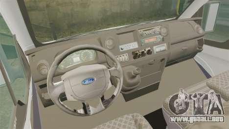Ford Transit Passenger para GTA 4 vista hacia atrás