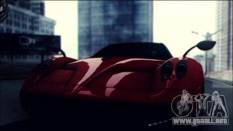 Sonic Unbelievable Shader v7 para GTA San Andreas sucesivamente de pantalla