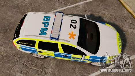 Skoda Octavia Scout RS Metropolitan Police [ELS] para GTA 4 visión correcta