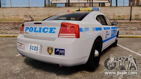 Dodge Charger LCPD [ELS] para GTA 4 Vista posterior izquierda