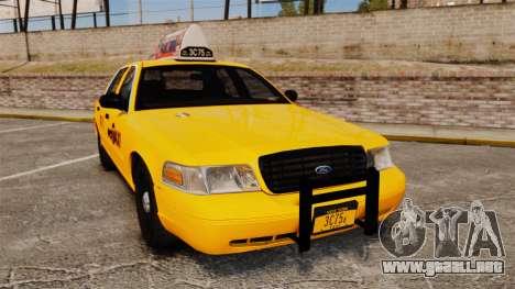 Ford Crown Victoria 1999 NYC Taxi v1.1 para GTA 4