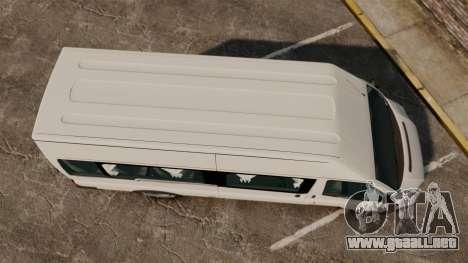 Ford Transit Passenger para GTA 4 visión correcta