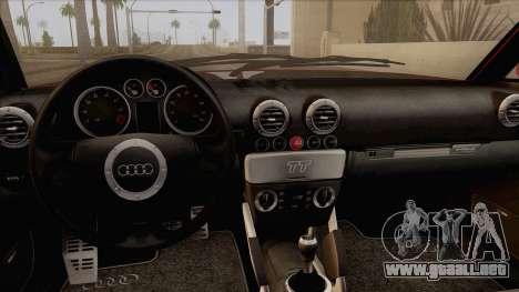 Audi TT 1.8T para la visión correcta GTA San Andreas