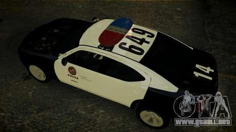 Dodge Charger LAPD 2008 para GTA 4 vista interior