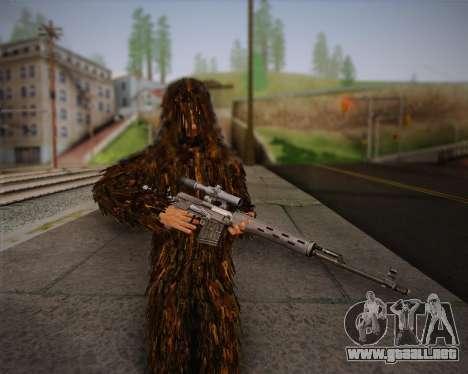 El francotirador de Arma 2 piel para GTA San Andreas sucesivamente de pantalla