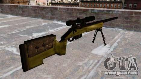Rifle de francotirador M40A3 para GTA 4 segundos de pantalla