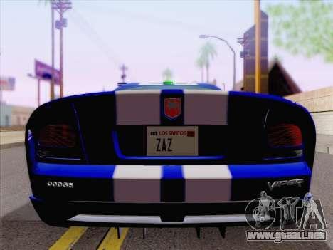 Dodge Viper SRT-10 Coupe para la vista superior GTA San Andreas