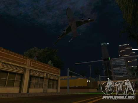 Boeing-747-400 Airforce one para vista lateral GTA San Andreas