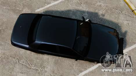 Ford Crown Victoria Stealth [ELS] para GTA 4 visión correcta